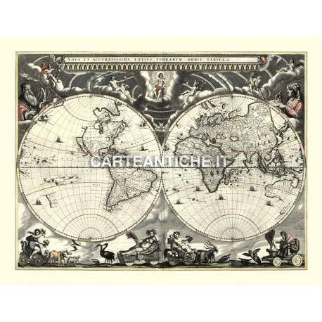 Carta antica: Mappa del Mondo 06 - J. Blaeu 1684