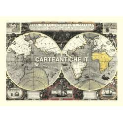 Carta antica: Mappa del Mondo 07 - Hondius 1595