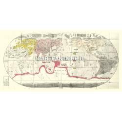Carta antica: Mappa Giapponese del Mondo 09 - Naniwa 1785