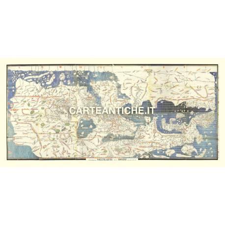 Carta antica: Mappamondo 10 - Idrisi 1154