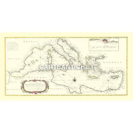 Carta antica: Europa 02 - Mar Mediterraneo - 1845
