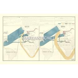 Carta antica: Europa 03 - Importazioni del Cotone - Minard 1866