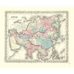 Carta antica: Mappa Asia 01 - Colton 1885