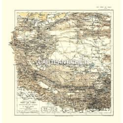 Carta antica: Asia 02 - Esplorazione Europea - Tibet 1909
