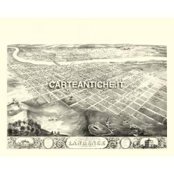 Veduta antica: USA 01 - Lawrence, Kansas - 1869