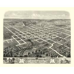 Veduta antica: USA 02 - Columbia, Missouri - 1869