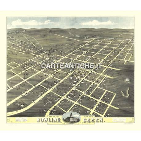 Veduta antica: USA 05 - Bowling Green, Kentucky - A. Ruger 1871
