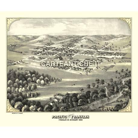 Veduta antica: USA 07 - Franklin, Missouri - A. Ruger 1869