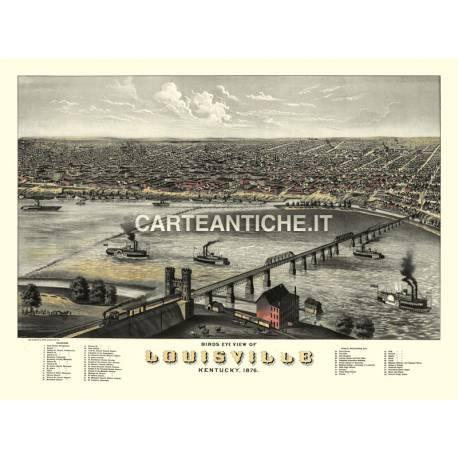Veduta antica: USA 12 - Luisville, Kentucky - A. Ruger 1876
