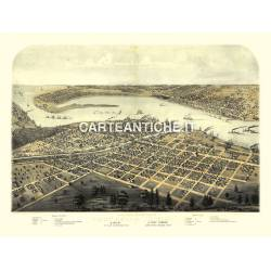 Veduta antica: USA 18 - Port Huron, Michigan - Ruger 1867