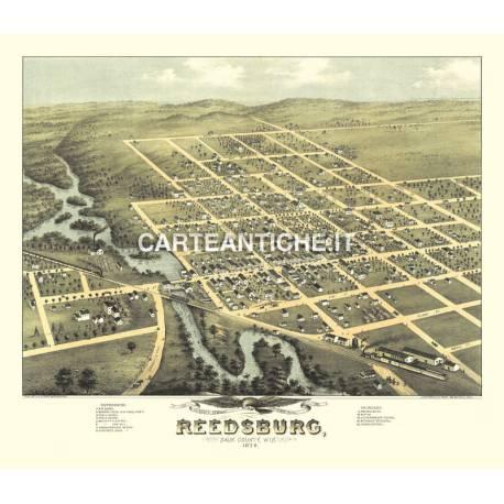 Veduta antica: USA 19 - Reedsburg, Wisconsin - Ruger 1874