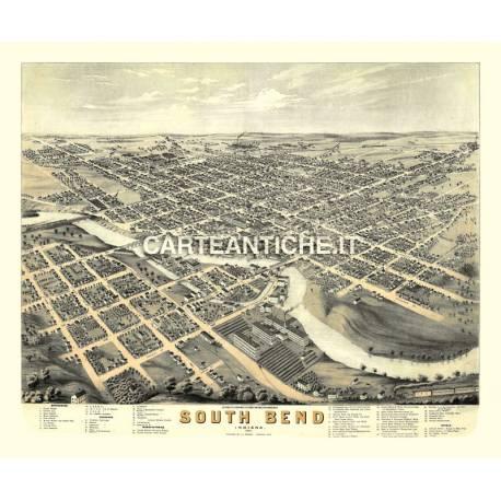 Veduta antica: USA 21 - South Bend, Indiana - Ruger 1874