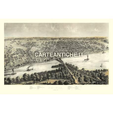 Veduta antica: USA 25 - Peoria, Illinois - Ruger 1867