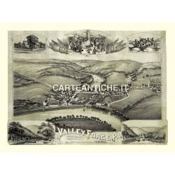 Veduta antica: USA 29 - Valley Forge, Pennsylvania - Downs 1890
