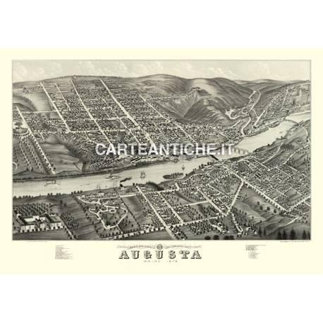 Veduta antica: USA Augusta, Maine - Ruger 1879
