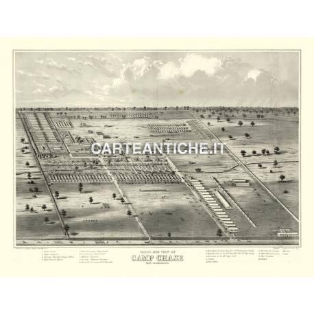 Veduta antica: USA - Camp Chase Columbus, Ohio - Ruger 1860