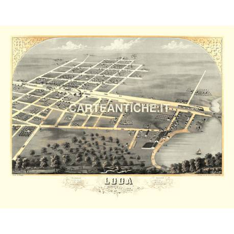 Veduta antica: USA - Loda, Illinois - Ruger 1869