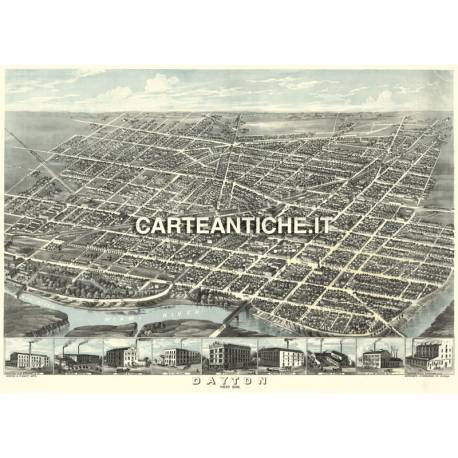 Veduta antica: USA - Dayton, Ohio - Ruger 1870