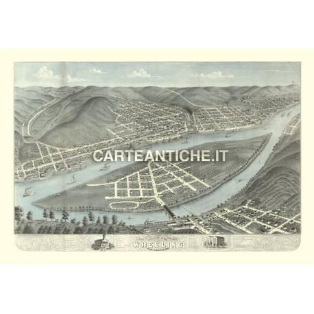 Veduta antica: USA - Wheeling, Virginia Ovest - Ruger 1870