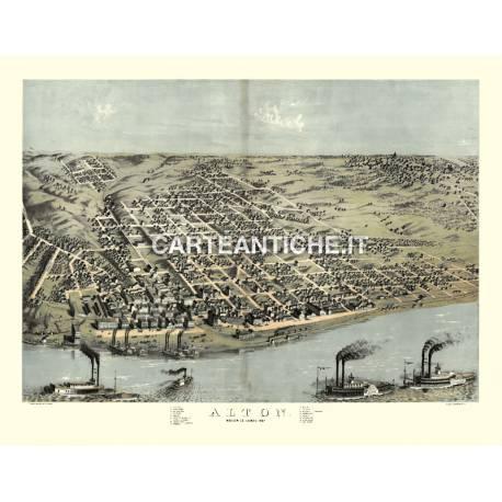 Veduta antica: USA - Alton, Illinois - Ruger 1867
