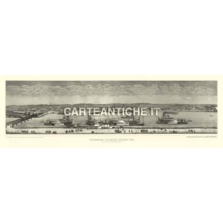 Veduta antica: USA - Rock Island, Illinois - Hageboeck 1873