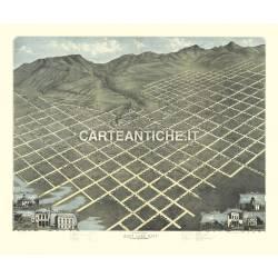 Veduta antica: USA - Salt Lake City - Koch 1870