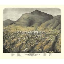 Veduta antica: USA - Virginia City, Nevada - Koch 1861