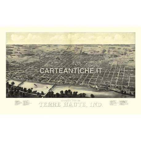 Veduta antica: USA - Terre Haute 1880