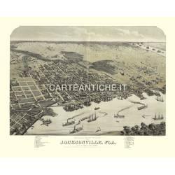 Veduta antica USA: Jacksonville 1874.