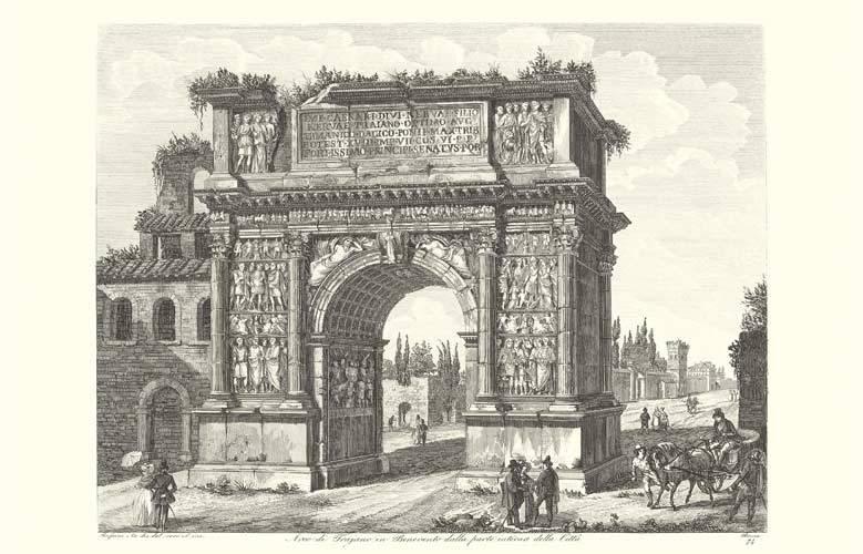 Veduta antica di Benevento.